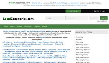 LocalCategories.com - National to local  related information listings.